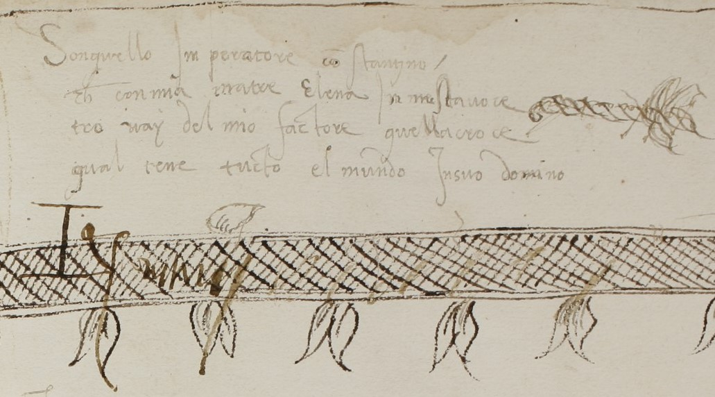 Napoli, Biblioteca Nazionale, MS XIII.B.29, fol. 117r. Il poemetto su Costantino nel suo contesto codicologico.