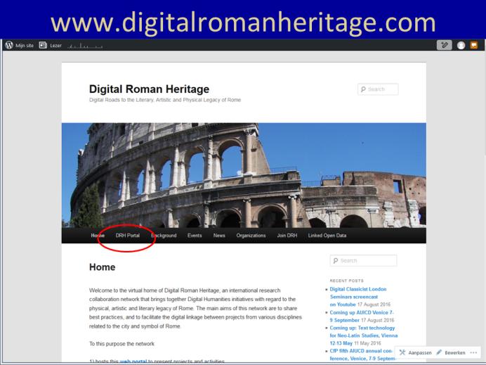 Digital Roman Heritage Homepage