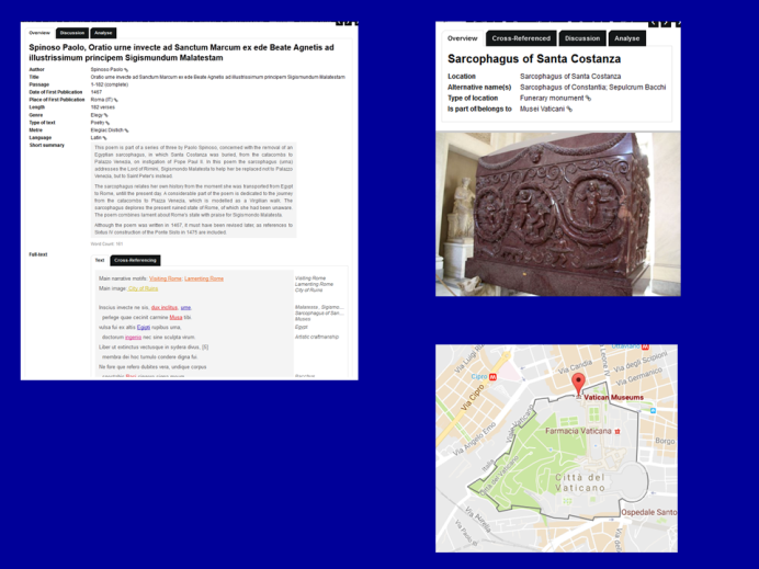 Text and Image of the Sarcophagus of Santa Costanza in MVR