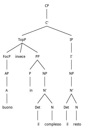 Tree structure for Predicative AP Preposing