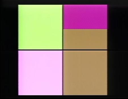 Still da frame dell'animazione di forme e colori del programma DISP. https://www.youtube.com/watch?v=Kf1umv-5JfA.