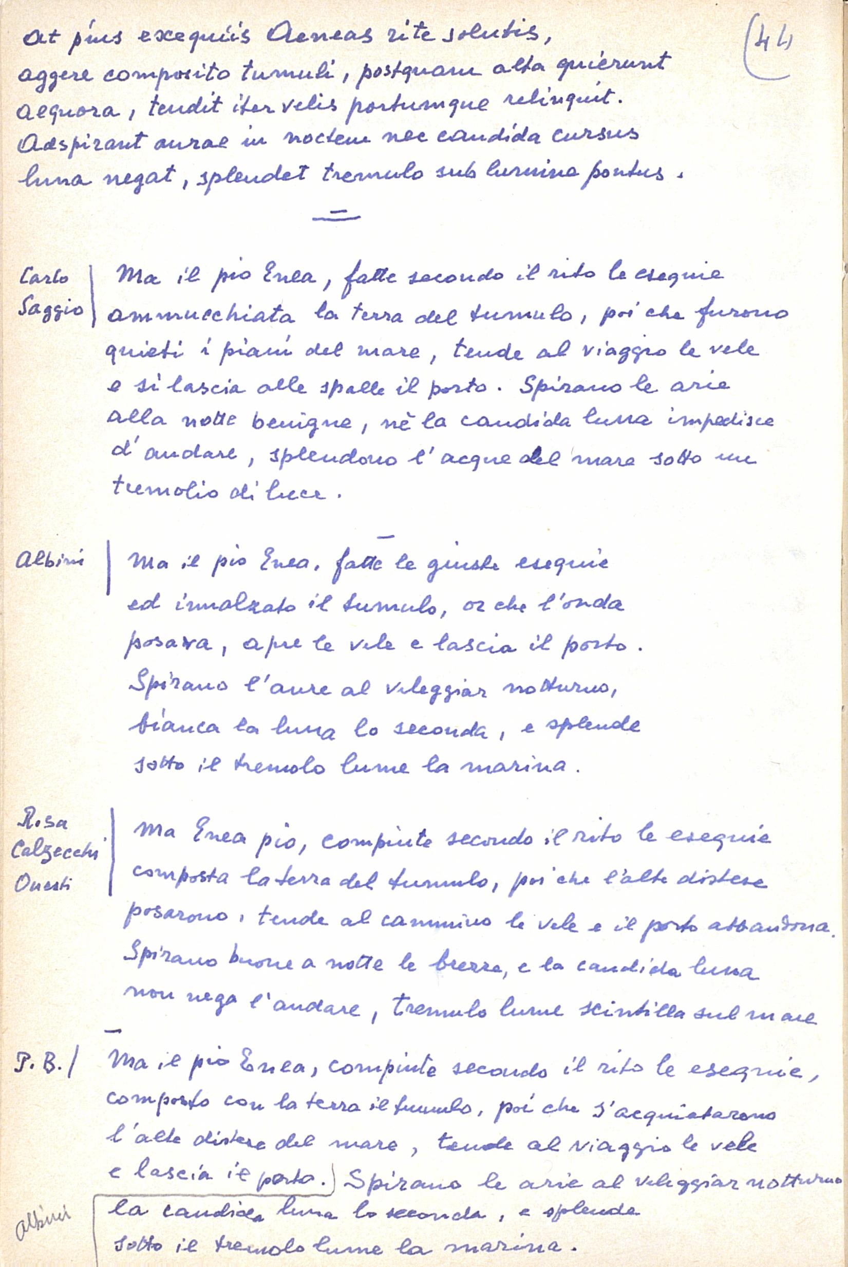 Facsimile della p. 12 del quaderno di Appunti di Paolo Bufalini.