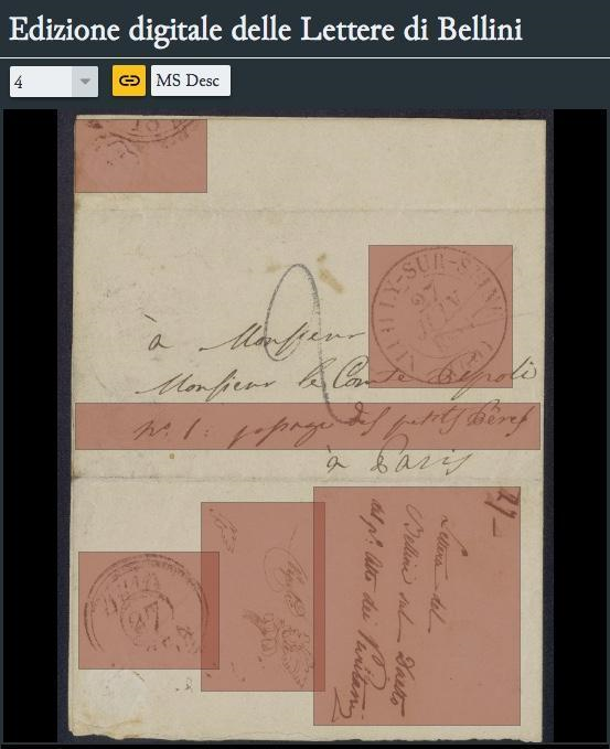 Fronte-recto of letter LL1.16 with address, second hand, third hand and stamps.