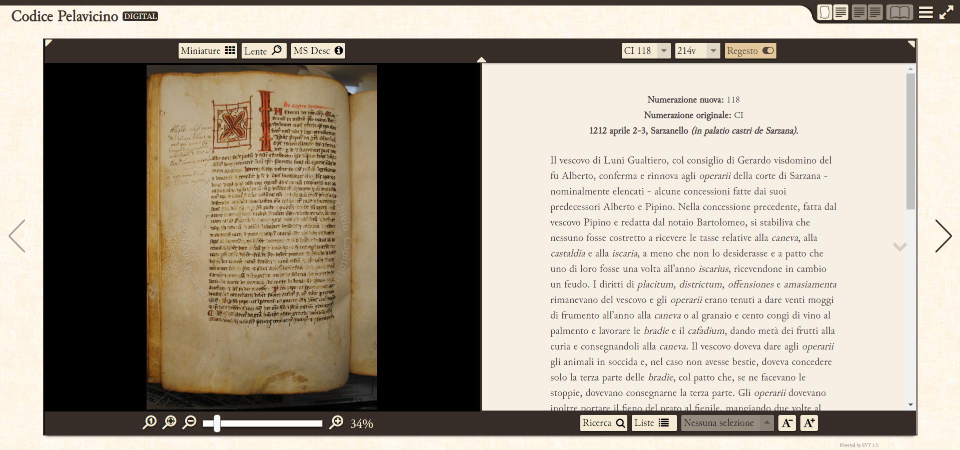 Il Codice Pelavicino Digitale
