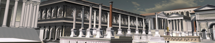 """Header Image del progetto """"Digital Roman Forum"""" by Bernard Frischer (Copyright 2005 by the University of California Los Angeles; created by UCLA Cultural Virtual Reality Laboratory)"""