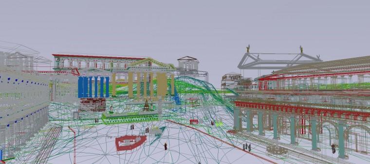 Una fase di studio del progetto tecnico (© digitales-forum-romanum)